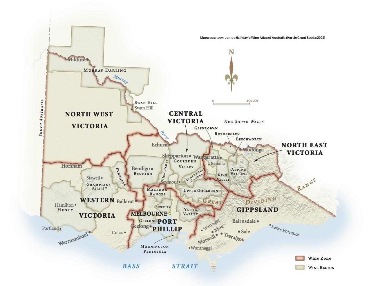 Image of: Victoria Geographical Indication Wine Australia